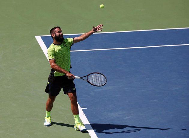 Václav Šafránek v duelu s Grigorem Dimitrovem na US Open.