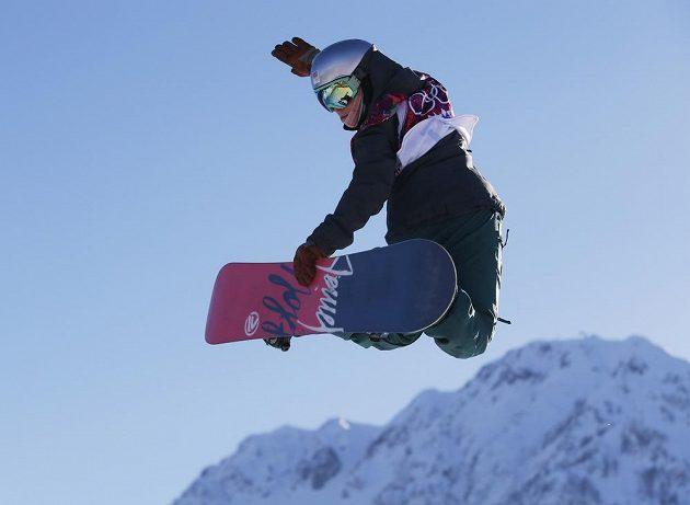 Šárka Pančochová během olympijské kvalifikace slopestylu.