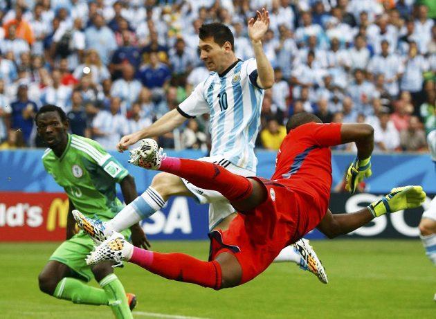 Lionel Messi se v duelu proti Nigérii znovu střelecky prosadil.