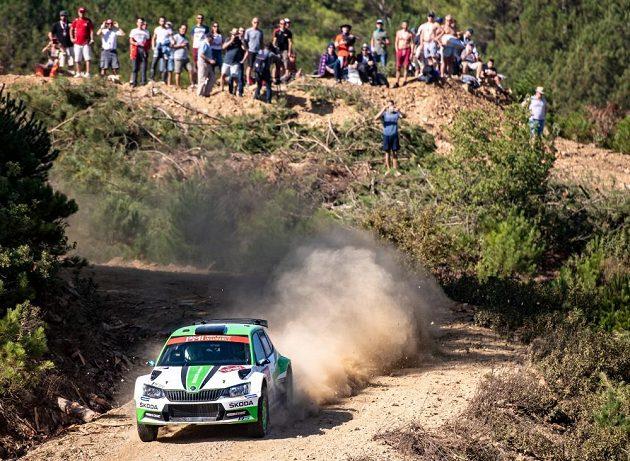Švéd Pontus Tidemand na trati Turecké rallye.