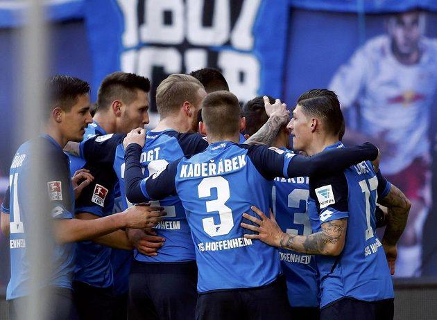 Hráči Hoffenheimu se radovali z vedení proti Lipsku, ale nakonec zůstali bez bodu.