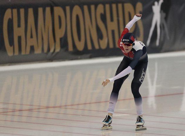 Martina Sáblíková v cíli závodu na 3000 metrů.