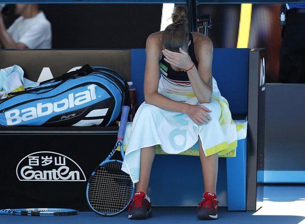 Čtvrtfinále Australian Open se Karolíně Plíškové nepovedlo podle představ.