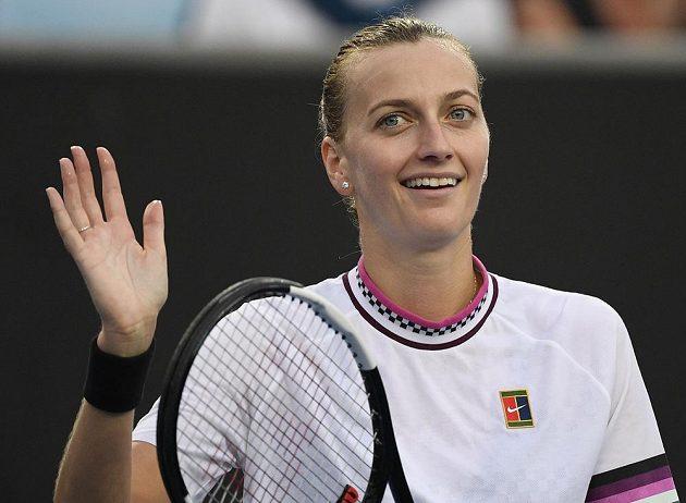 Spokojenost ve tváři české tenistky Petry Kvitové.