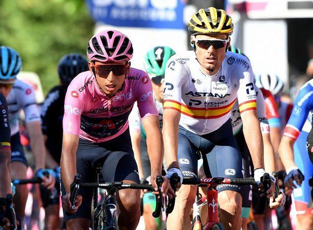 Růžový trikot vedoucího závodníka si pohlídal Kolumbijec Egan Bernal, jenž dojel po 212 kilometrech 12. etapy v hlavní skupině s desetiminutovou ztrátou.