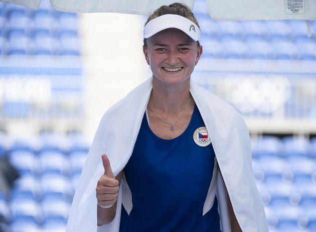 Spokojená Barbora Krejčíková po postupu do druhého kola
