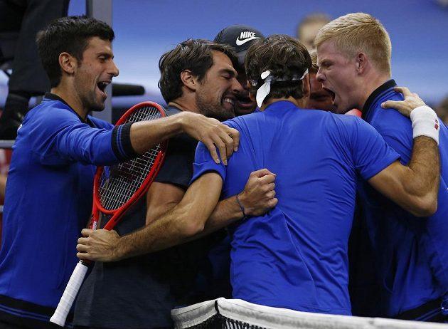Tým Evropy slaví závěrečný triumf