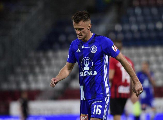 Martin Nešpor z Olomouce během utkání s Opavou.