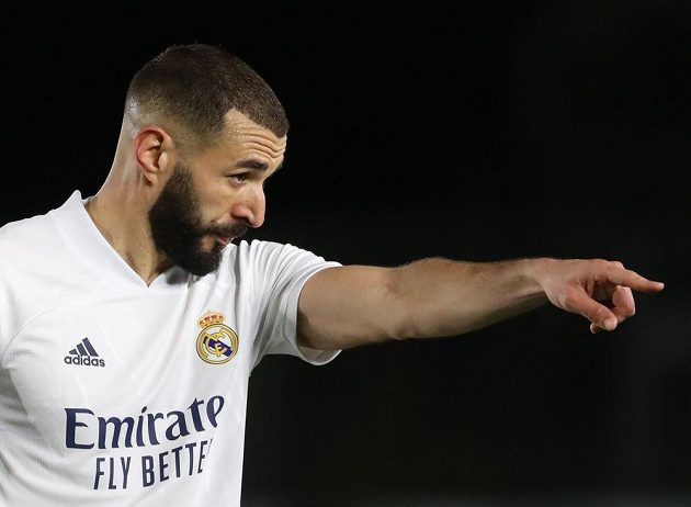 Kanonýr Realu Madrid Karim Benzema.