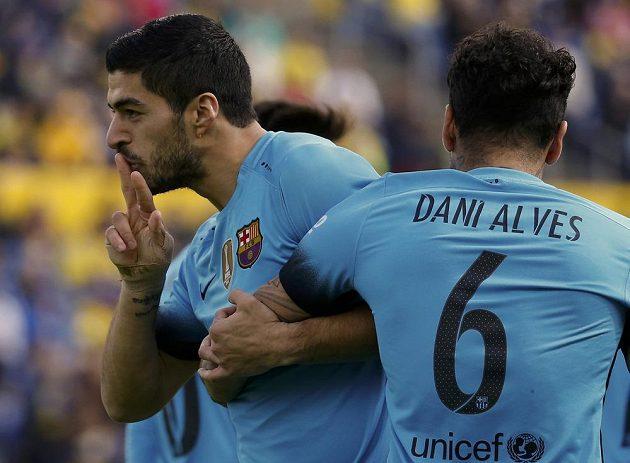 Luis Suárez z Barcelony se raduje ze vstřeleného gólu.