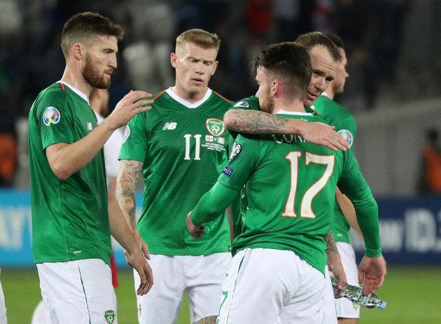 Fotbalisté Irska po kvalifikačním utkání s Gruzií.