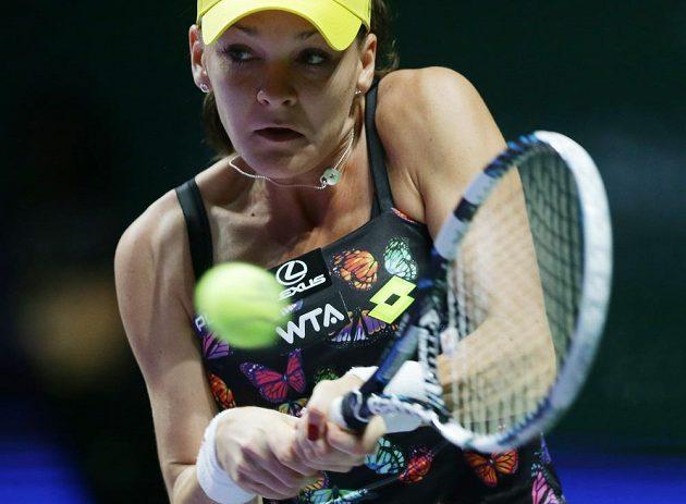 Agnieszka Radwaňská (na snímku) povolila Petře Kvitové na Turnaji mistryň jen pět her.