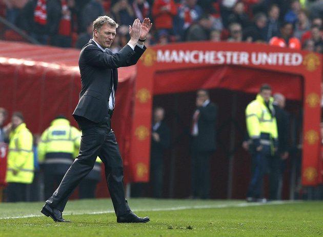 Kouč Manchesteru United David Moyes po vyhraném zápase s Aston Villou.