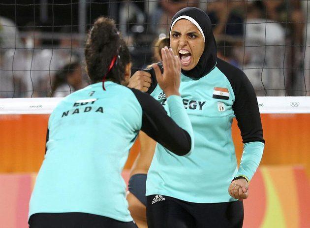 Euforie z bodu. Egypťanky nakonec prohrály s německými hráčkami.