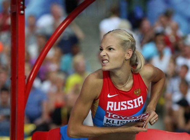 Ruská dálkařka Darja Klišinová na mistrovství světa v Moskvě.