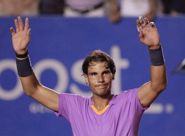 Rafael Nadal po vítězství nad Martinem Alundem na turnaji v Acapulku.