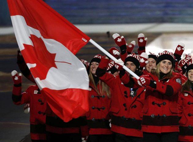 Kanadskou výpravu přivedla vlajkonoška Hayley Wickenheiserová. Oblečení poněkud nevýrazné.