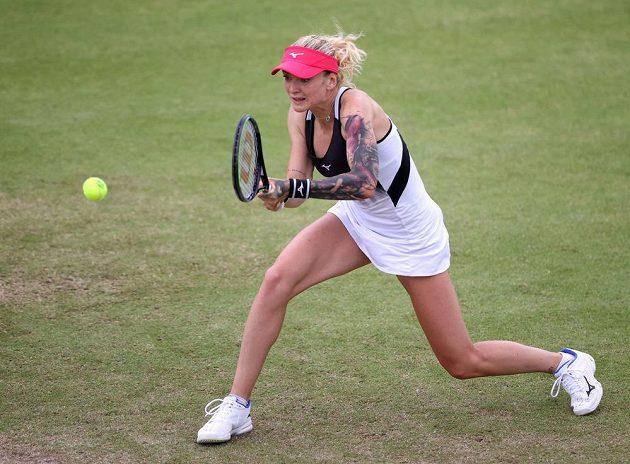 Tenistka Tereza Martincová si první semifinále na trávě v kariéře nezahraje.