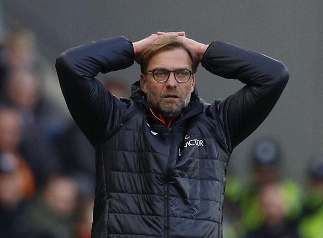 Rozčarovaný trenér Liverpoolu Jürgen Klopp.