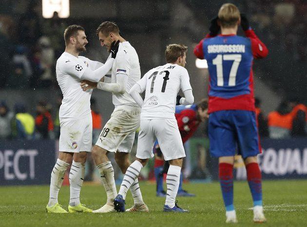 Fotbalisté Plzně slaví, jejich sen o postupu do jarní fáze Evropské ligy po výhře nad CSKA Moskva žije.
