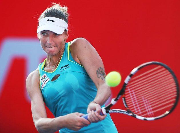 Karolína Plíšková v semifinále turnaje v Hongkongu.