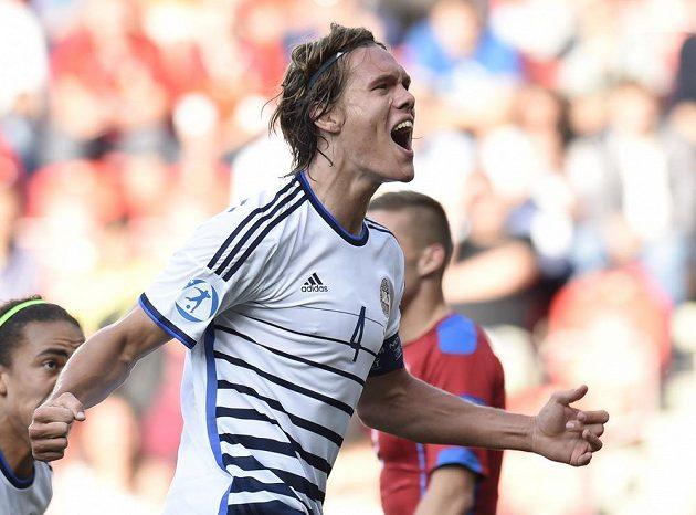 Jannik Vestergaard se raduje z vyrovnávacího gólu.