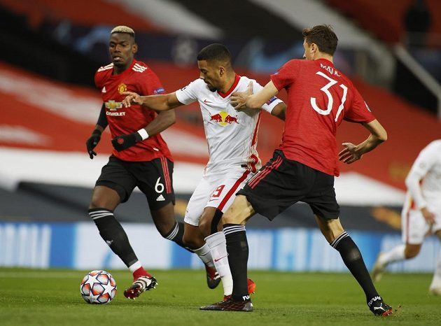Manchester United hostil v zápase Ligy mistrů Lipsko