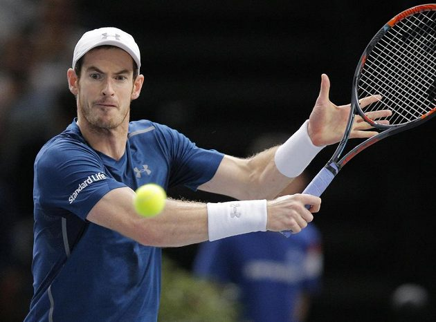 Andy Murray ve finále turnaje v Paříži.