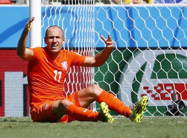Rozčílený tvůrce hry nizozemského mužstva Arjen Robben.