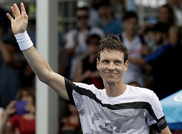 Maximální spokojenost. Český tenista Tomáš Berdych na Australian Open pokračuje v suverénních výkonech.