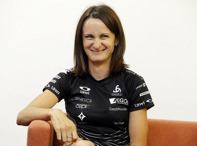 Martina Sáblíková na tiskové konferenci k projektu Olympijský rok.
