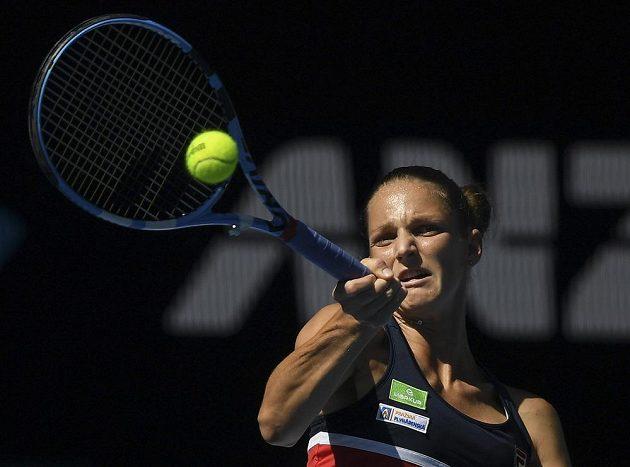 Karolína Plíšková ve čtvrtfinálovém duelu Australian Open.