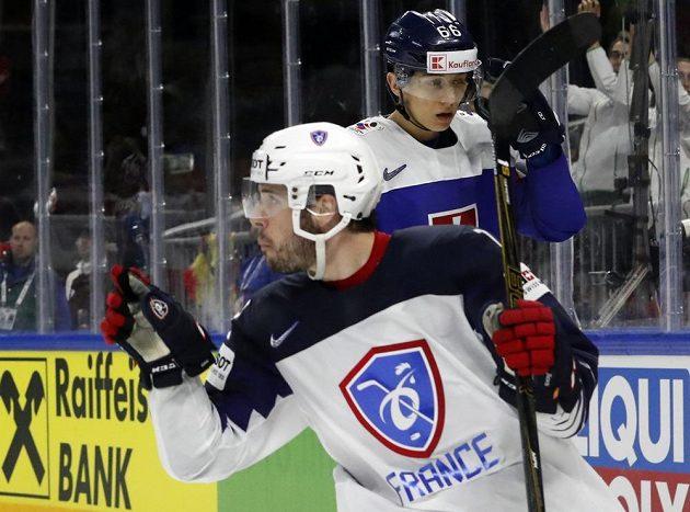 Francouz Valentin Claireaux po vstřeleném gólu proti Slovensku.