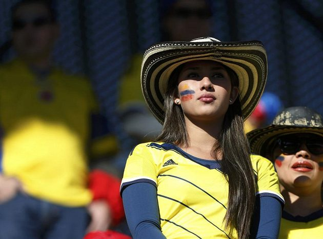V zahajovacím duelu proti Venezuele (0:1) však kolumbijští fotbalisté této krasavici moc radosti neudělali.