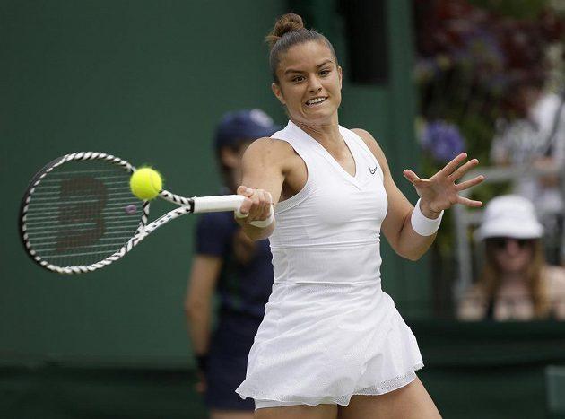 Řecká tenistka Maria Sakkariová ve druhém kole Wimbledonu nastoupila proti Marii Bouzkové.