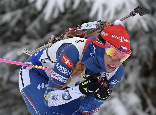 Gabriela Koukalová ovládla sprinterský závod SP v Oberhofu.