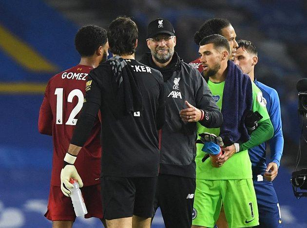 Spokojený manažer Liverpoolu Jürgen Klopp po další výhře svého týmu. Tentokrát Reds brali tři body na hřišti Brightonu.