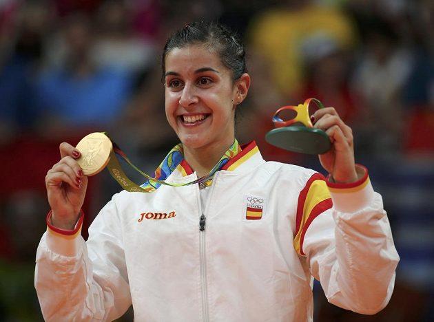 Španělka Carolina Marinová, vítězka mezi badmintonistkami.
