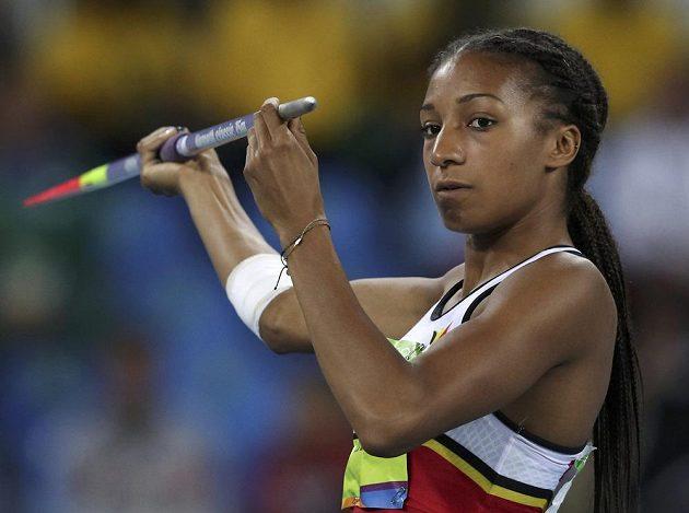 Belgická sedmibojařka Nafissatou Thiamová se v hodu oštěpem blýskla.