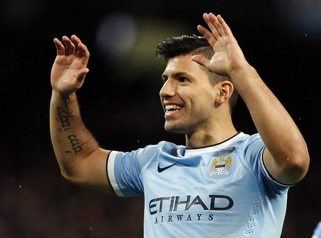 Radost útočníka Manchesteru City Sergia Agüera