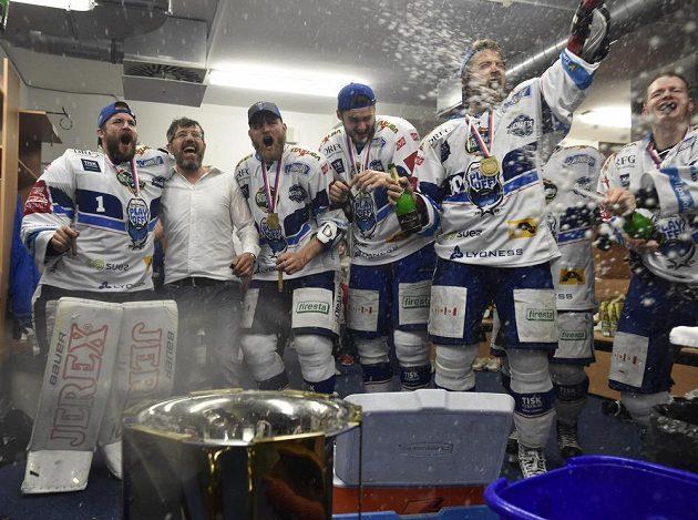 Hráči Brna při oslavě titulu.