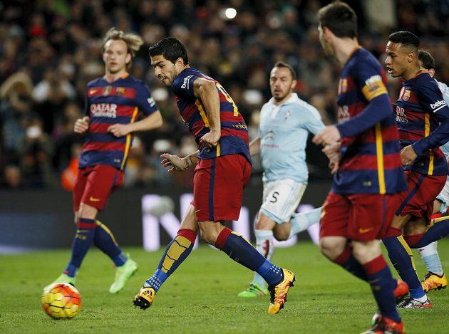 Lionel Messi rozehrál pokutový kop přesně na kopačku střelce Luise Suáreze v duelu proti Celtě Vigo.