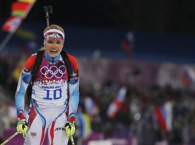 Biatlonistka Gabriela Soukalová to dokázala! Ze Soči neodjede s prázdnou, v závodu s hromadným startem na 12,5 vybojovala stříbro.