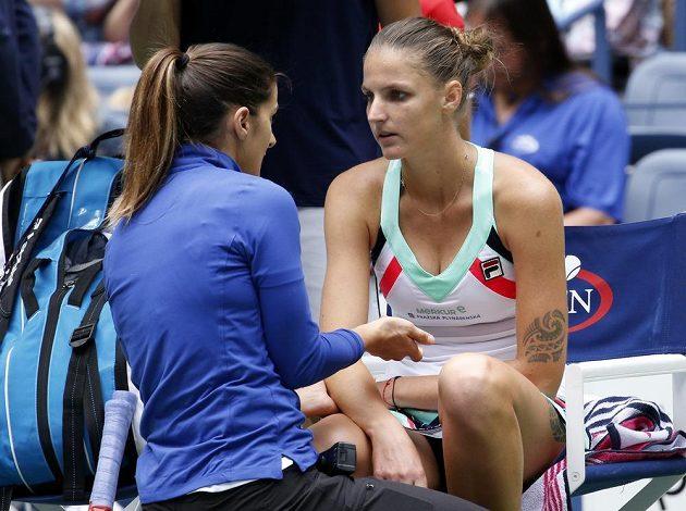...během utkání ji trápilo i zraněné zápěstí.