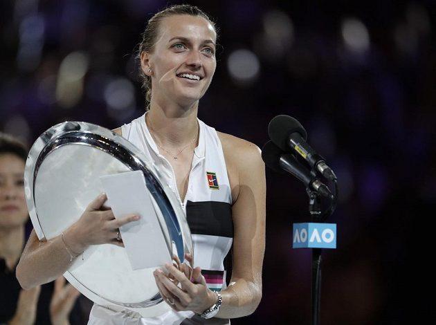 Petra Kvitová zůstala pozitivní i po své finálové porážce v Melbourne.