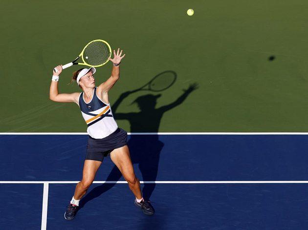 Česká tenistka Barbora Krejčíková na úvod US Open na kurtu dominovala.