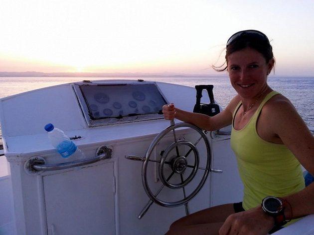 Na lodi strávila Zuzana Hejnová letošní dovolenou v Egyptě.