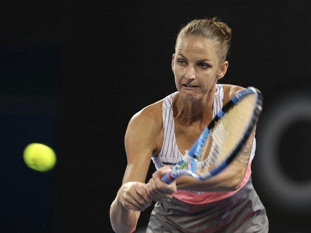 Karolína Plíšková ve druhém kole turnaje v Brisbane.