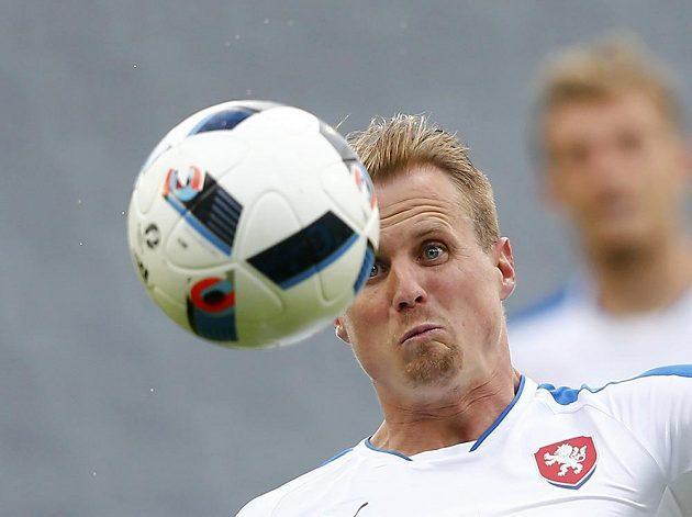 David Limberský v přípravném utkání proti Rusku.