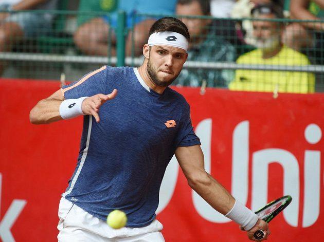 Jiří Veselý na tenisovém challengeru UniCredit Czech Open v Prostějově.